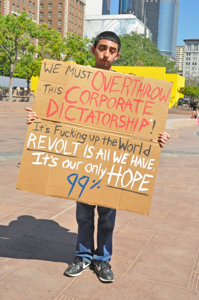 Occupy LA 1st Anniversary | Pershing Square | Oct 1, 2012 | © Nicole Powers, 2012