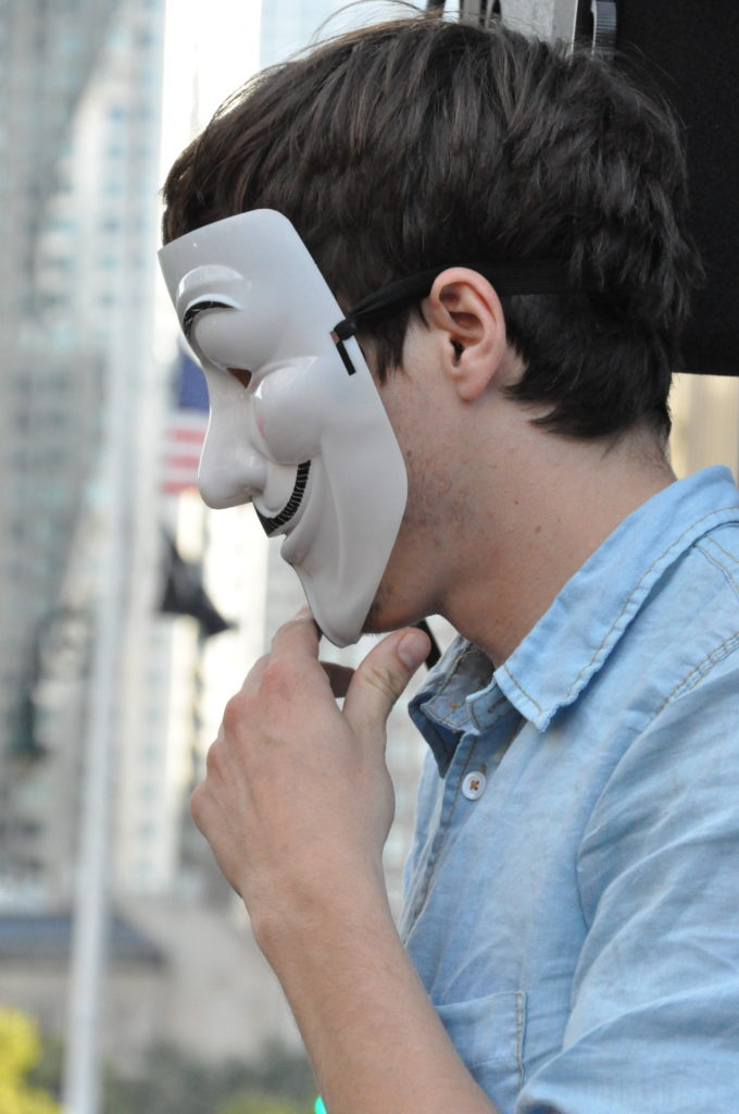 Anonymous | Occupy Wall Street | September 16, 2012 - NYC | © Nicole Powers, 2012