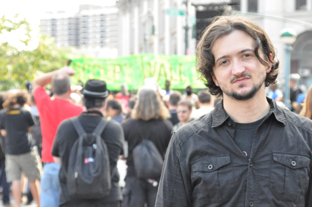Lee Camp | Occupy Wall Street | September 16, 2012 - NYC | © Nicole Powers, 2012