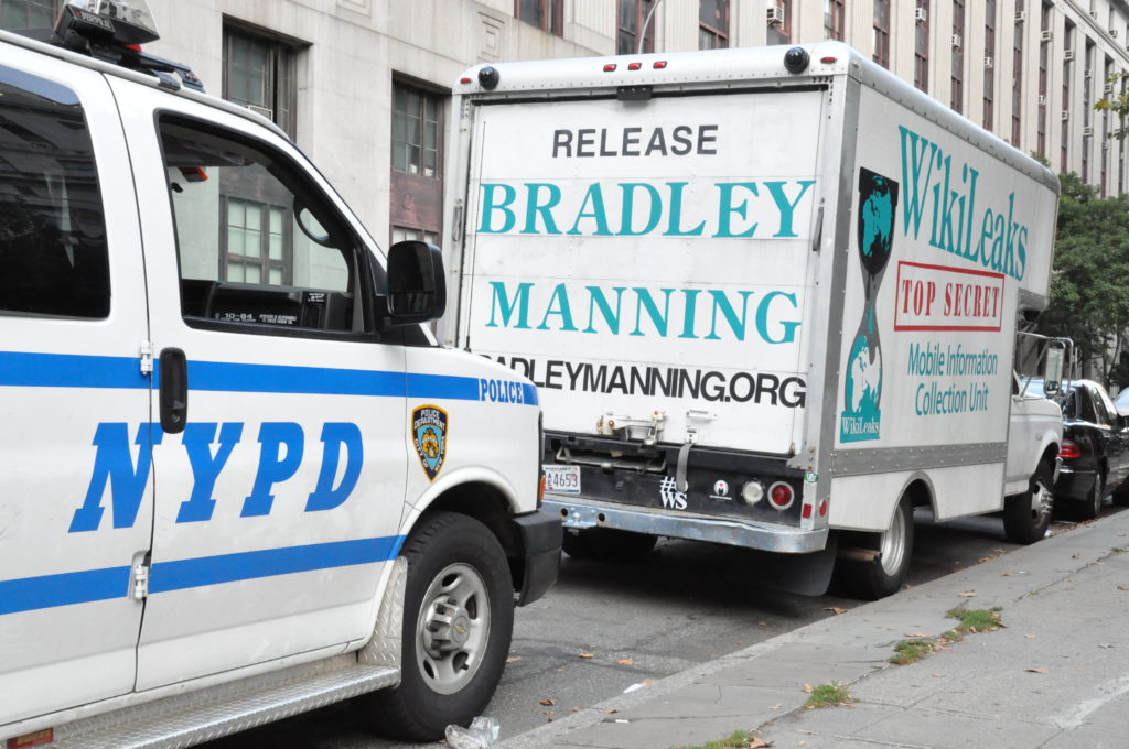 NYPD on the tail of WikiLeaks | Occupy Wall Street | September 16, 2012 - NYC | © Nicole Powers, 2012