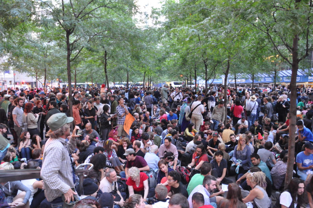 Zuccotti Park | Occupy Wall Street | September 17, 2012 - NYC | © Nicole Powers, 2012